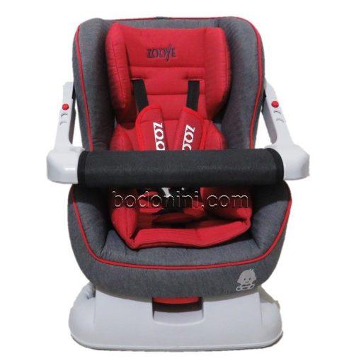 صندلی ماشین گارددار نوزاد زویه zooye babycare با بدنه طوسی