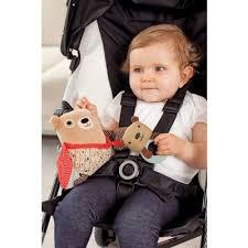عروسک جغجغه ای اسکیپ هاپ skiphop مدل خرس بچه بغل کوچک